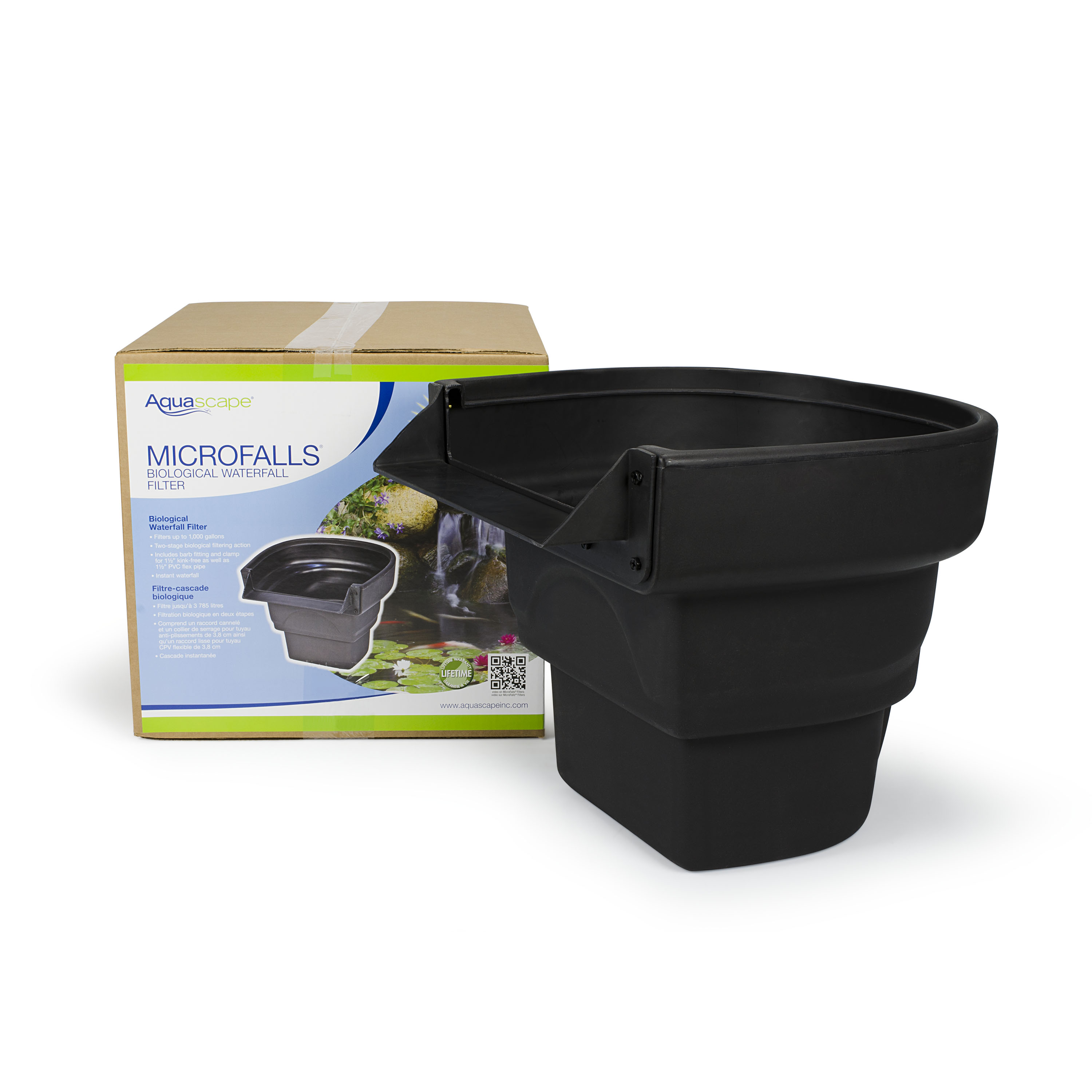 Aquascape ultraklean 1000 pond filtration kit aquascapes for Pond waterfall filter