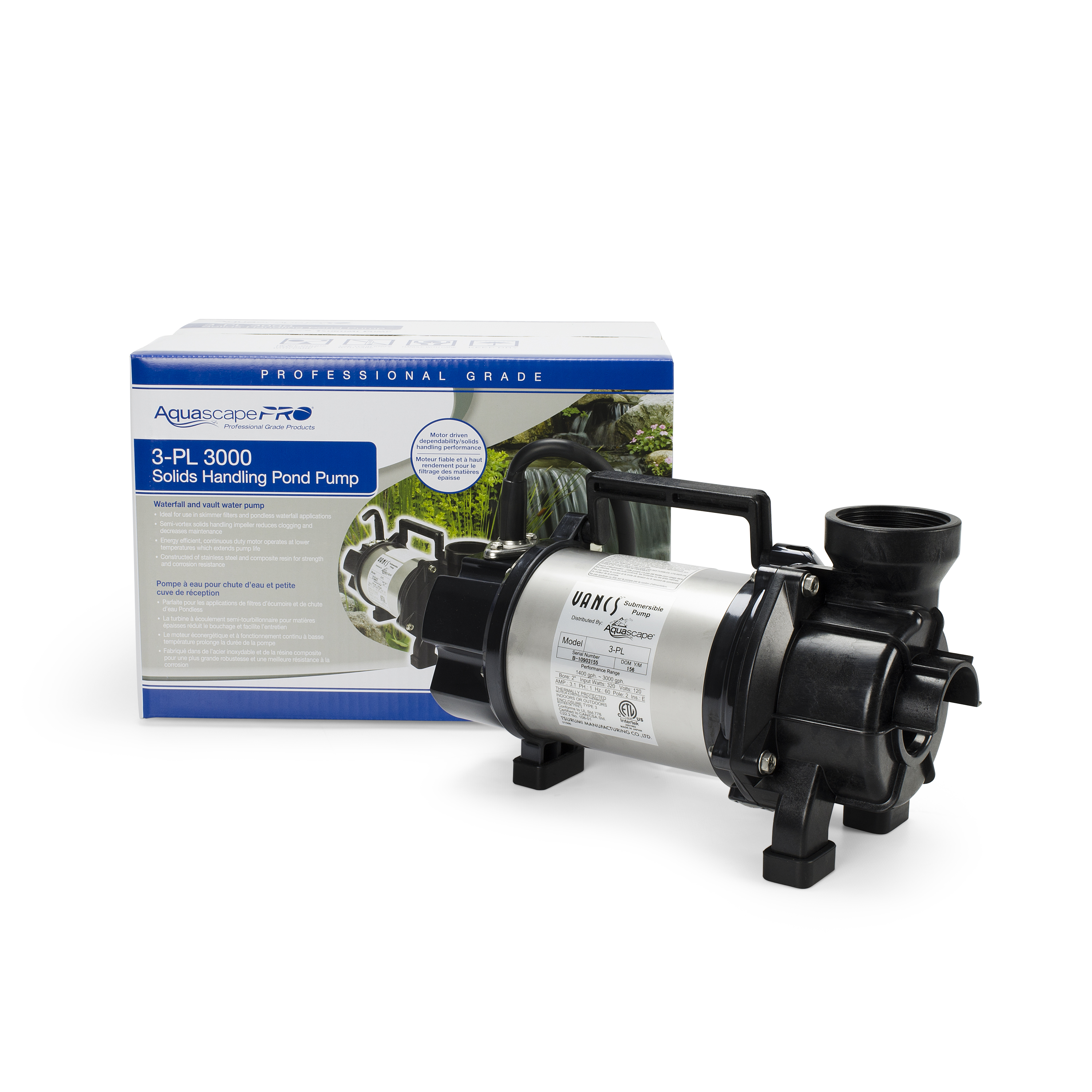 Aquascape PL Series Solids-Handling Pond Pumps (Horizontal)