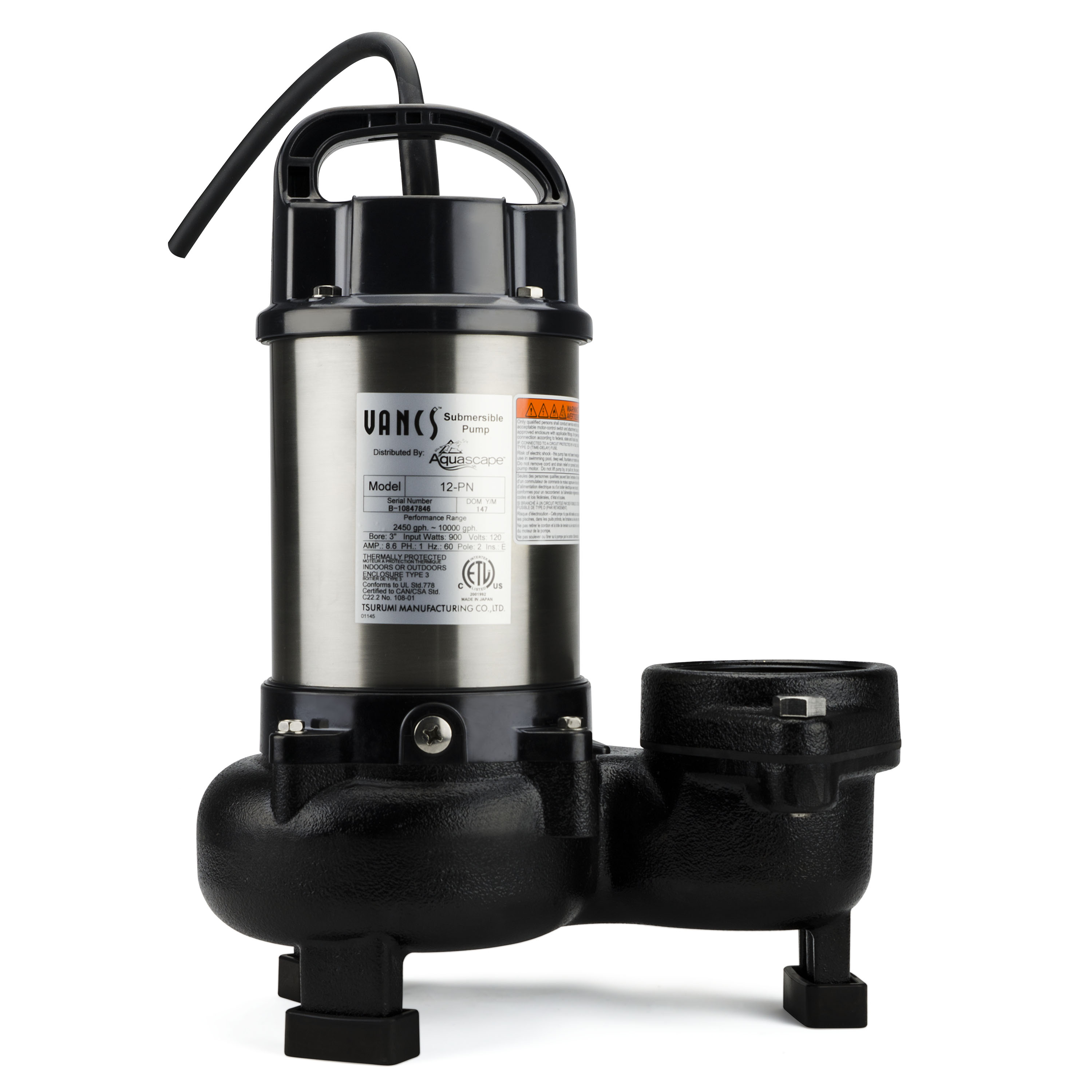 Aquascape Pn Series Solids Handling Pond Pumps Upright