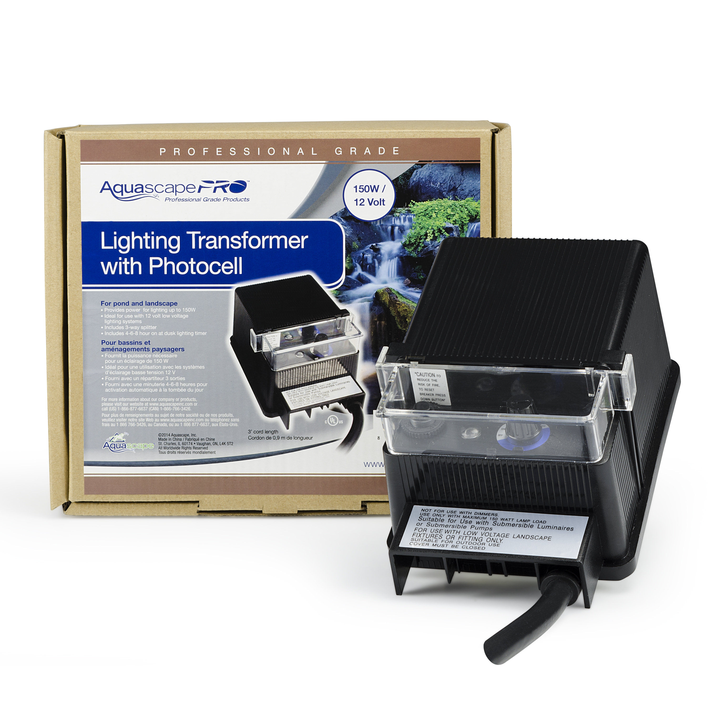 Portfolio Landscape Lighting Transformer Manual : Garden and pond watt transformer with photocell aquascapes
