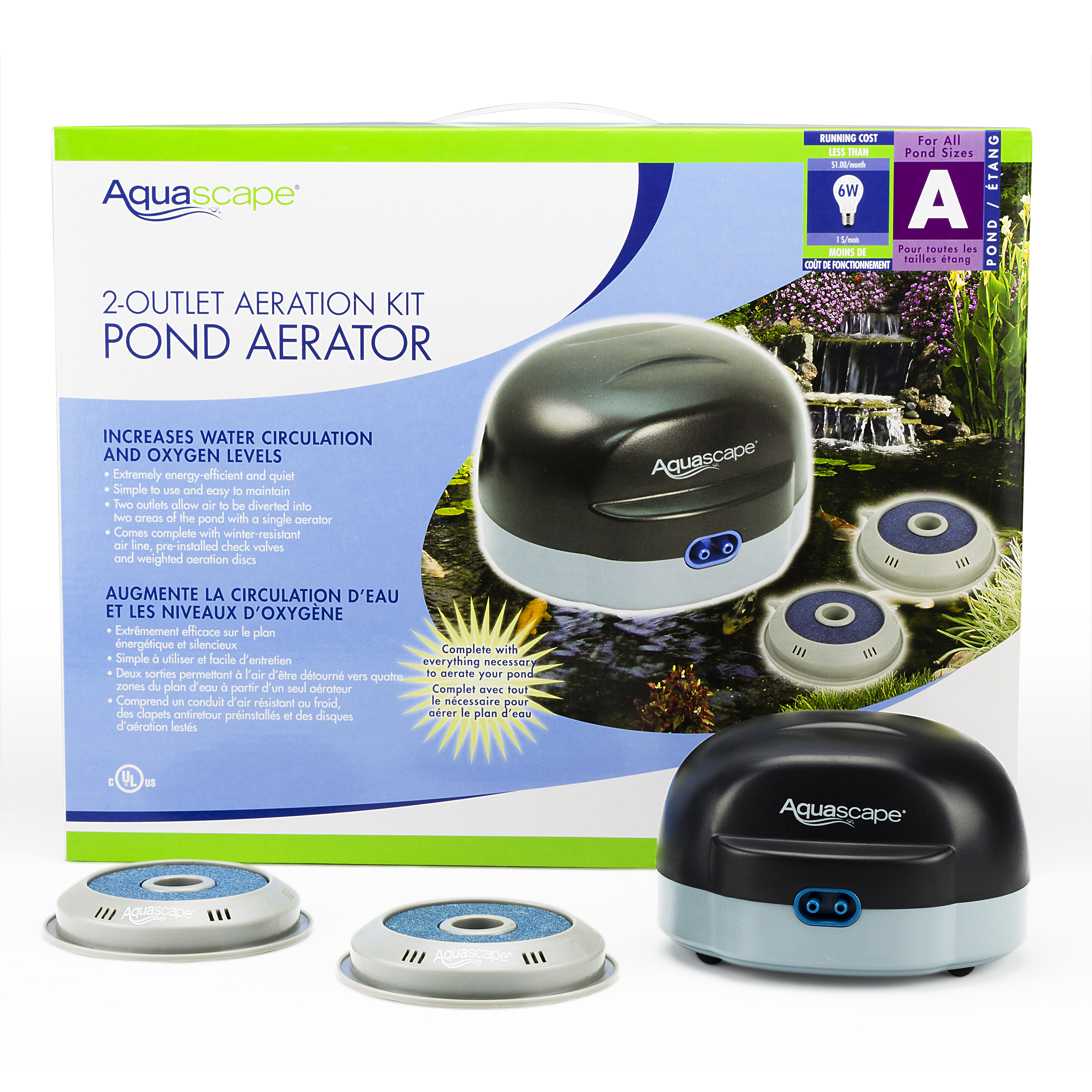 Aquascape Pond Aeration Kits With Airline Check Valves