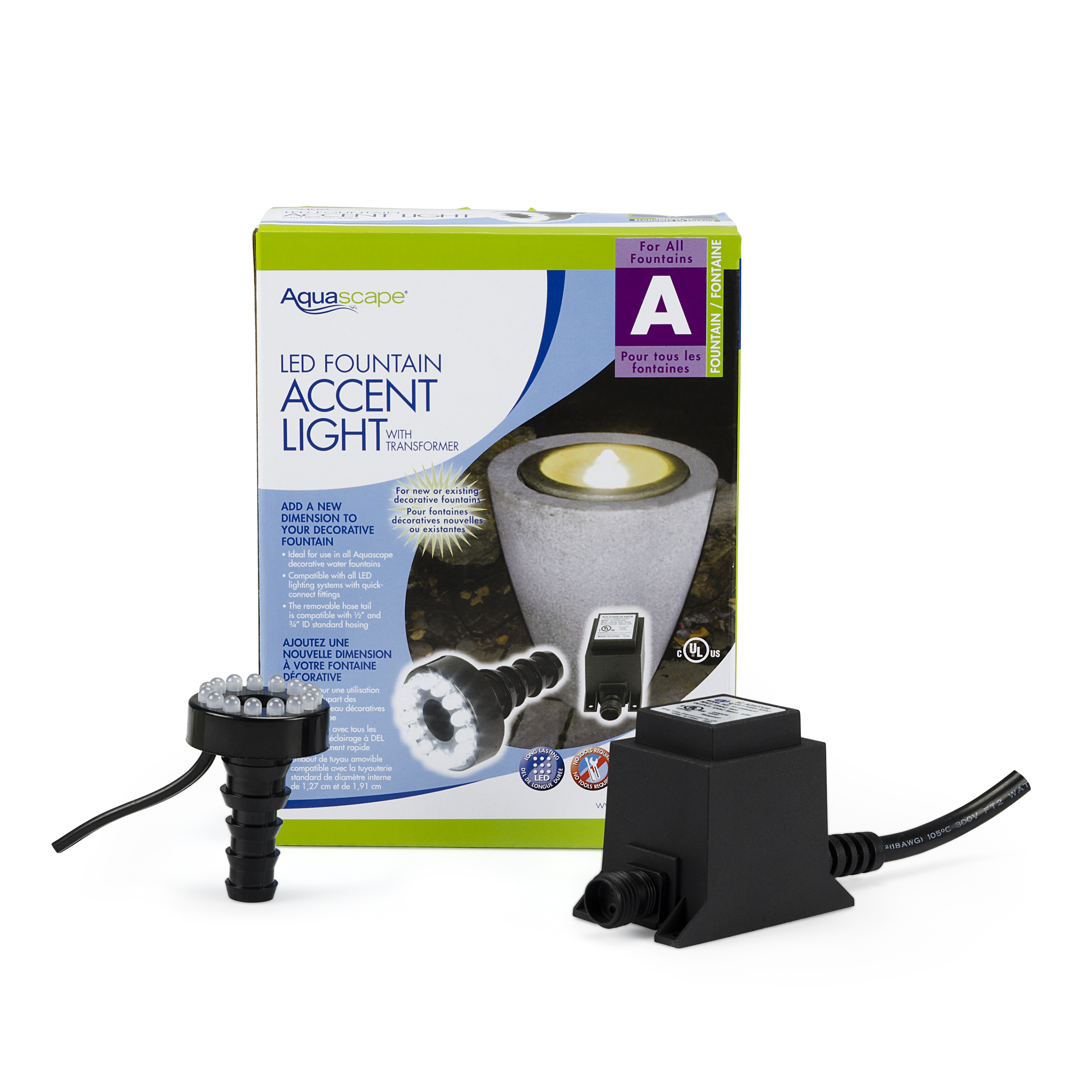 aquascape led fountain accent light with transformer – aquascapes