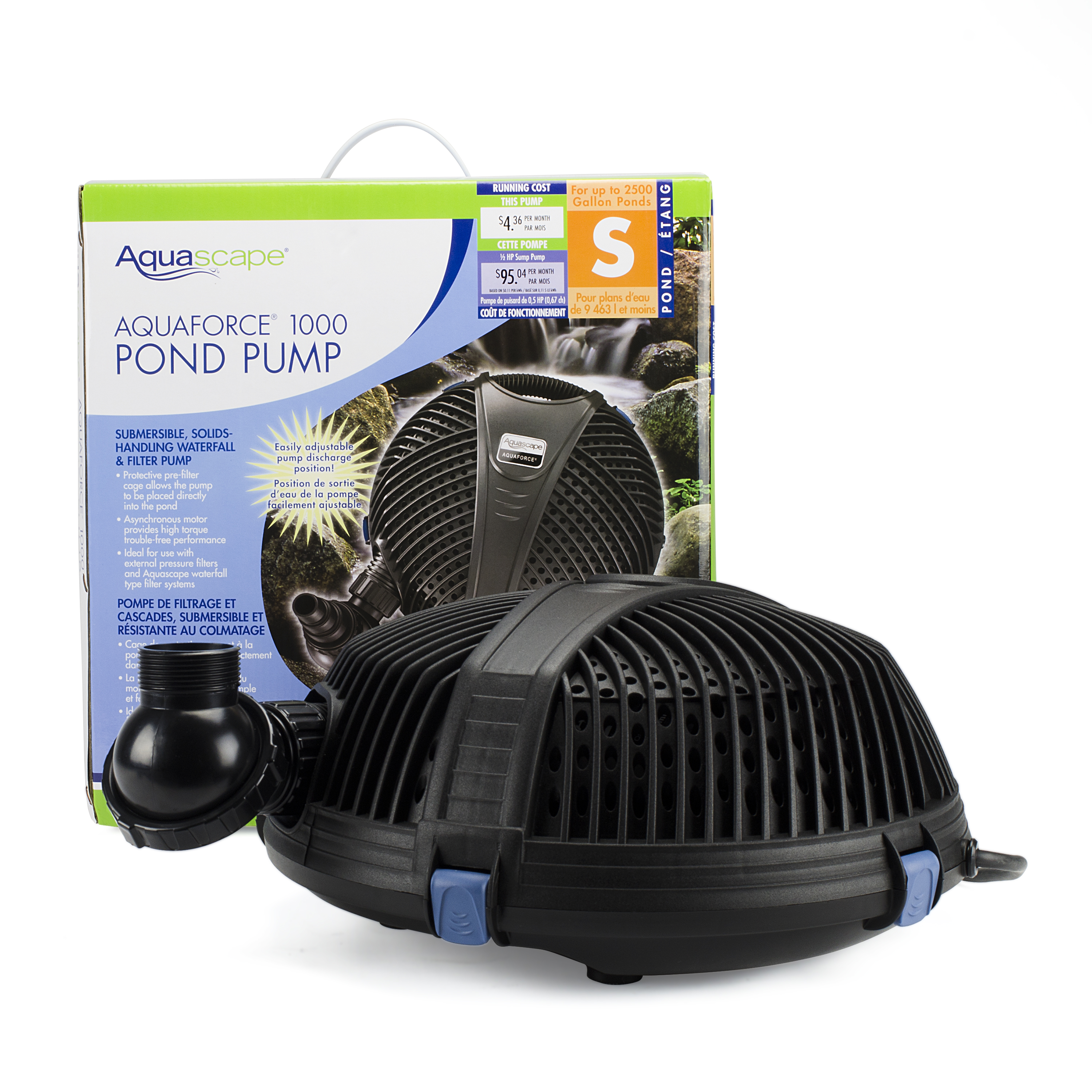 Aquascape 300 watt pond de icer aquascapes for Pond pump equipment