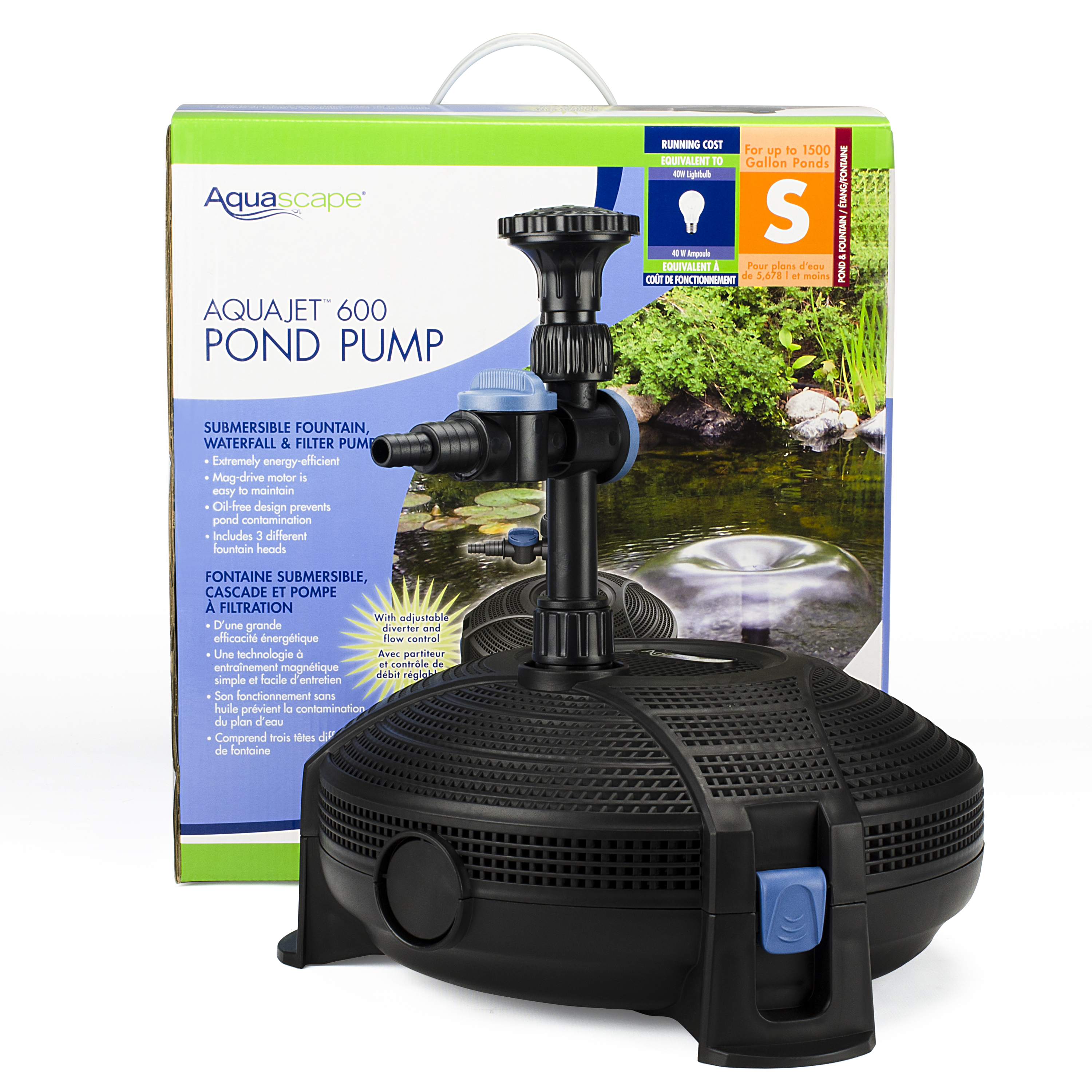 Aquajet Pond Pump Submersible Fountain Waterfall And Filter Pump