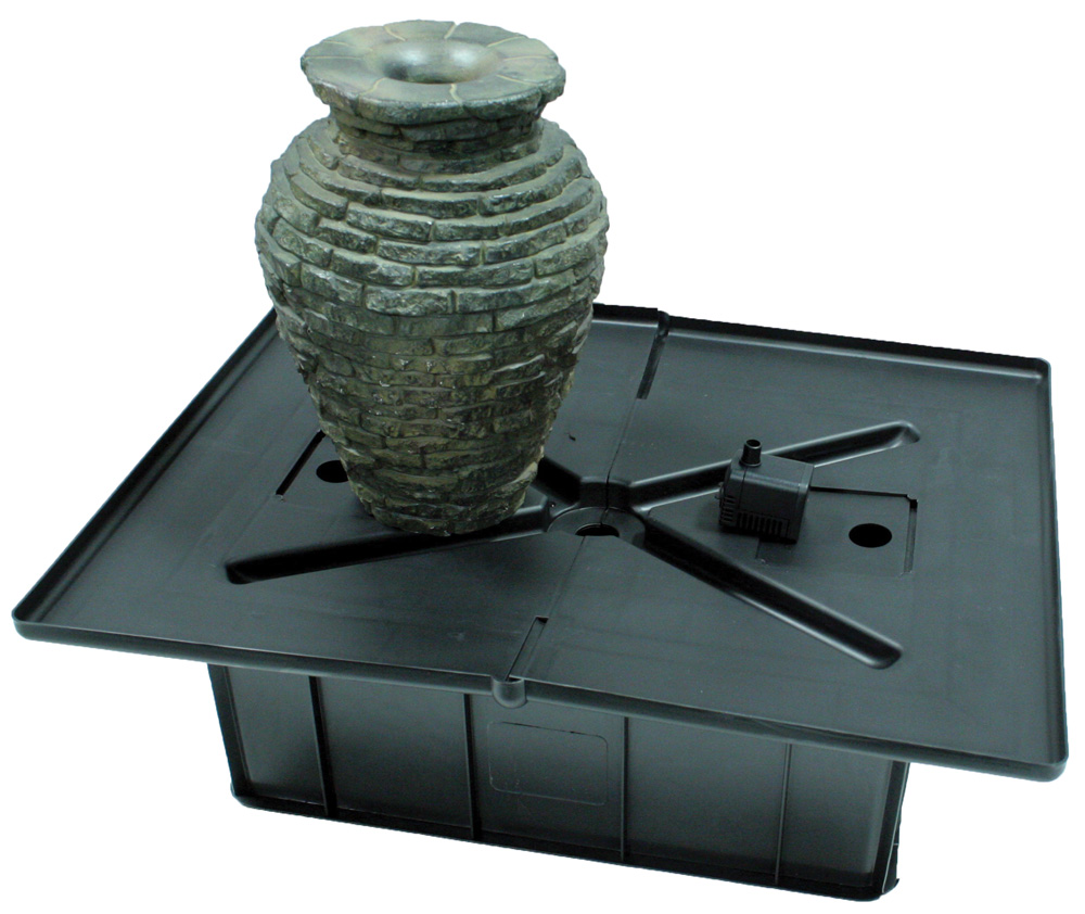 Small Stacked Slate Urn Fountain Kit - Aquascapes