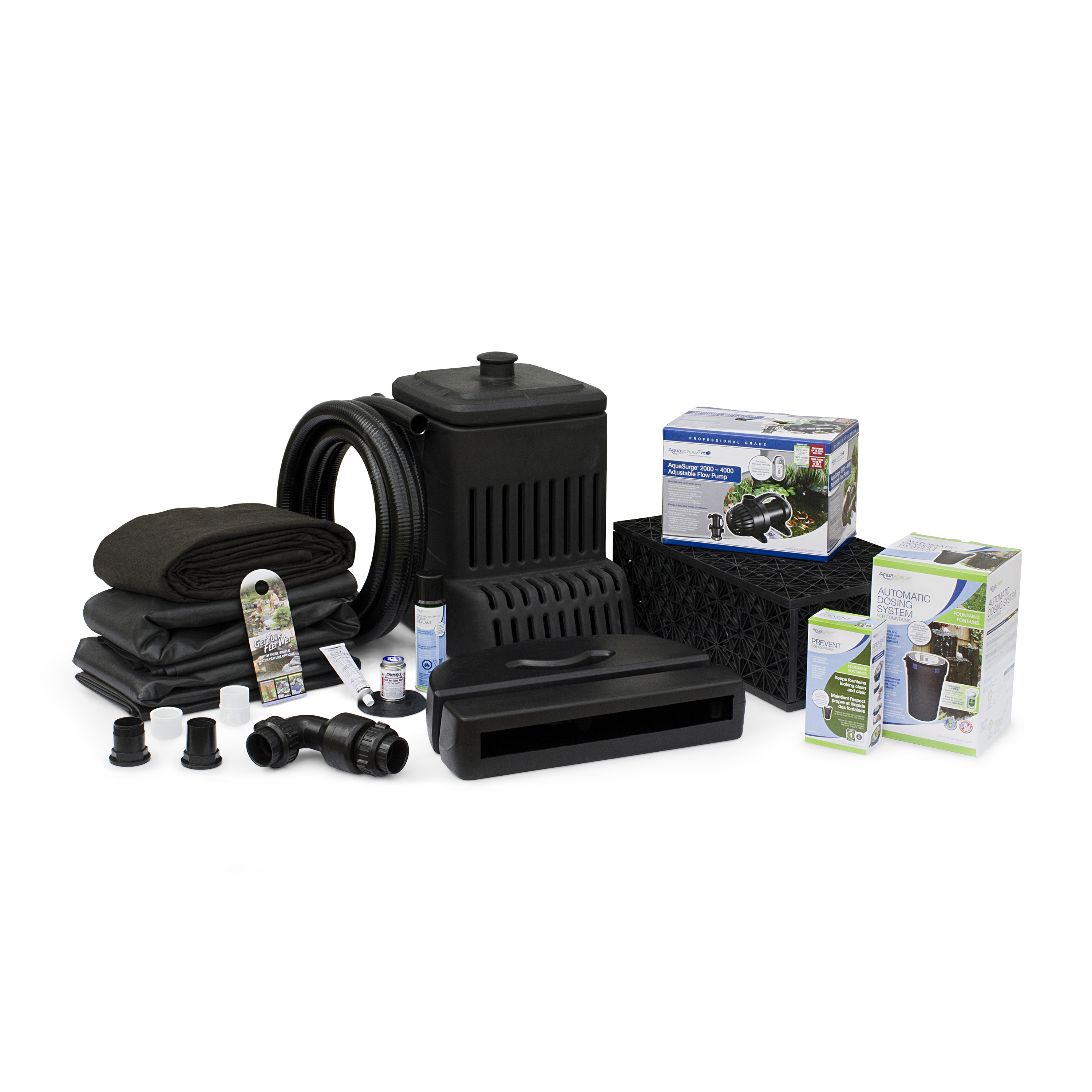 Aquascape small pondless waterfall kit 6 39 stream aquascapes for Pond waterfall kit