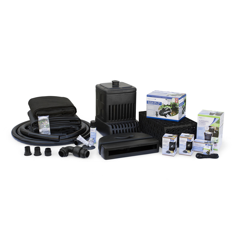 Aquascape diy backyard waterfall kit aquascapes for Pond waterfall kit