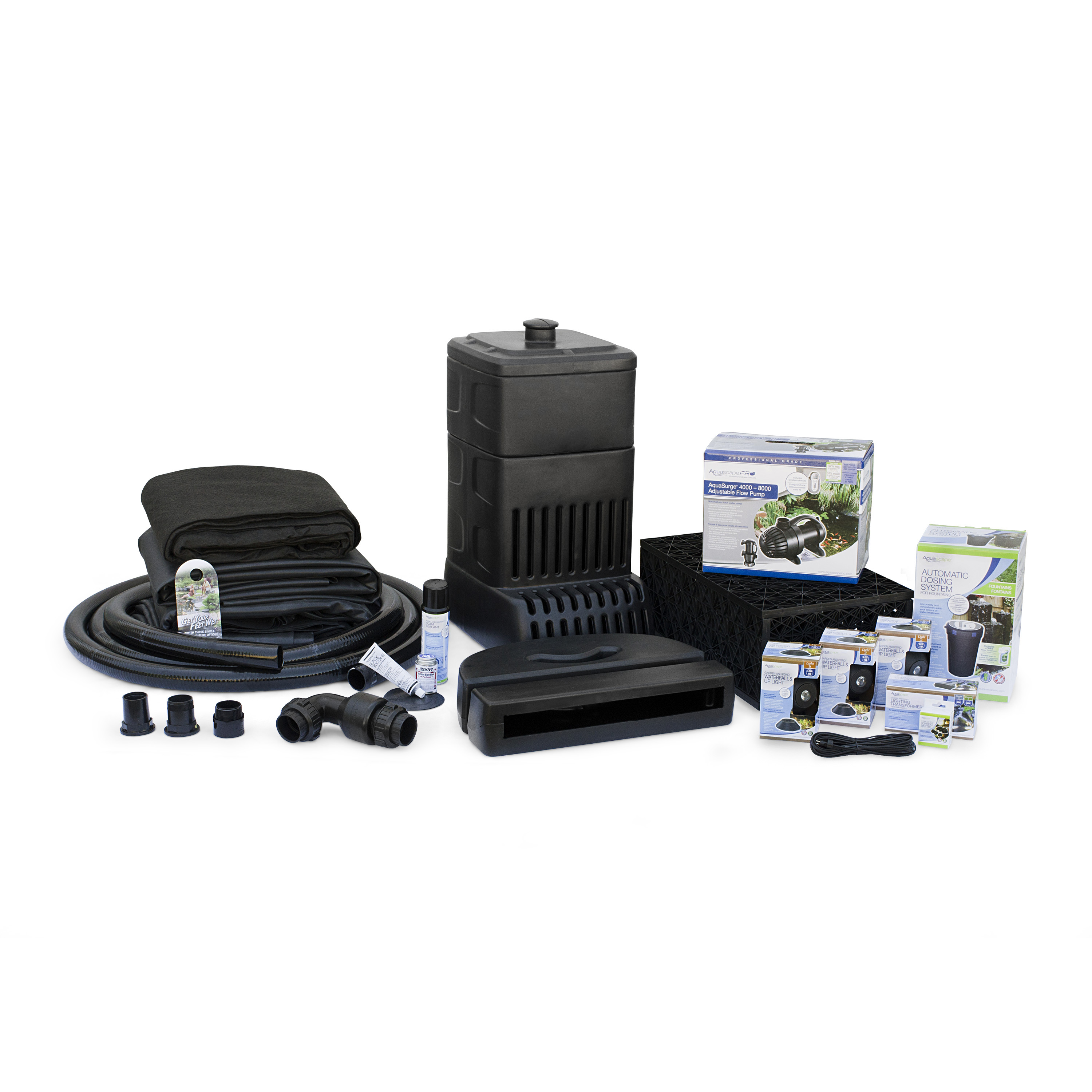 Aquascape large pondless waterfall kit 26 stream for Pond pumps for sale