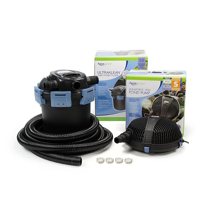 Aquascape ultraklean pond filtration kits aquascapes for Pond filter kits with pump
