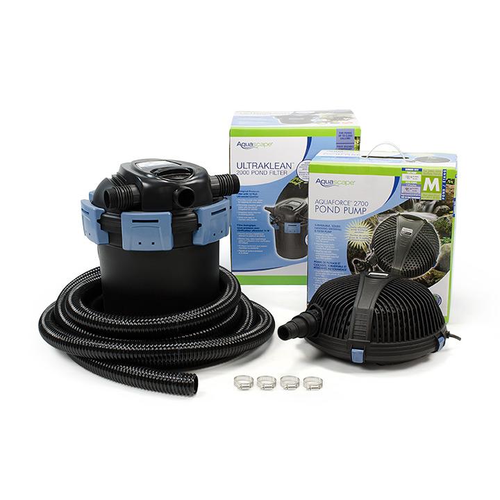 Aquascape ultraklean pond filtration kits aquascapes for Uv pond filters for sale