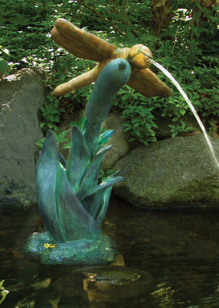 Aquascape Dragonfly Spitter Fountain for Ponds and Water Gardens 78303
