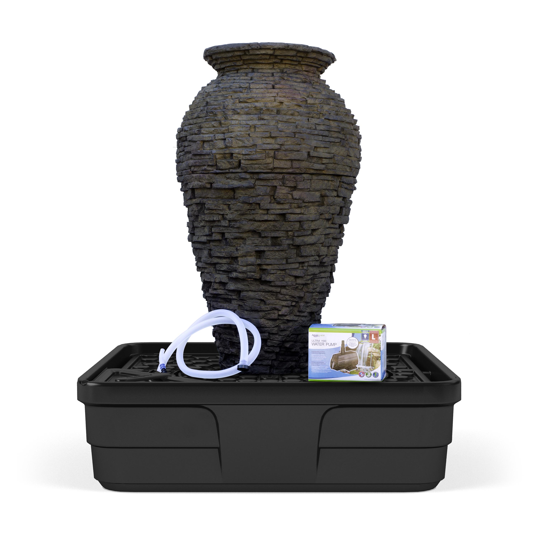 Medium Stacked Slate Urn Landscape Fountain Kit Aquascapes