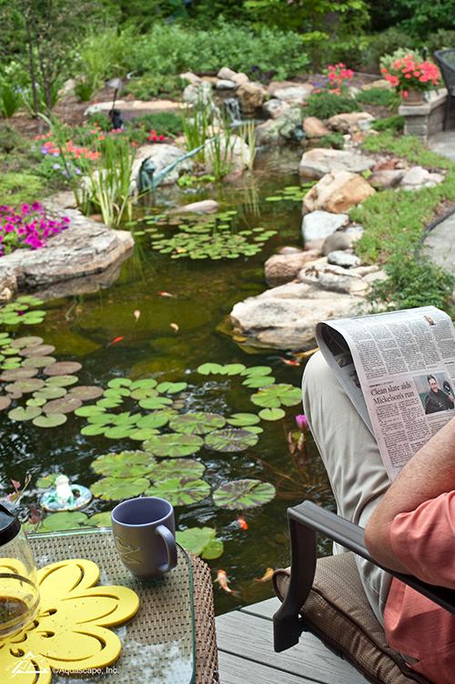water garden installation