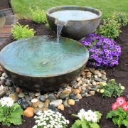 spillway bowl patio pond